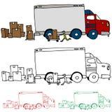 Vue mobile de profil de camion Photos libres de droits