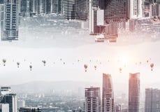 Vue moderne de paysage urbain Image libre de droits