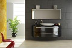 Vue moderne de salle de bains Photographie stock