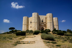 Vue n.1 de Castel del Monte Photo stock