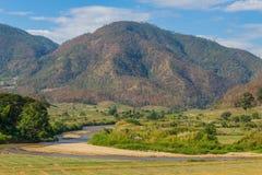 Vue naturelle et montagne Image stock