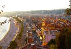 Vue Nice de ville, Promenade des Anglais, ` Azur, la Côte d'Azur, la mer Méditerranée, France de Cote d image libre de droits