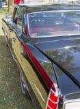 Vue noire de profil de 1963 Pontiac Bonneville Photographie stock