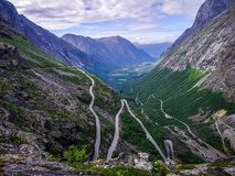Vue Norvège de Trollstigen photos stock