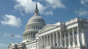 Vue oblique du côté est du bâtiment de capitol dans DC de Washington photos stock