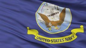 Vue officielle de plan rapproché de drapeau de caractéristiques de marine d'Etats-Unis illustration libre de droits