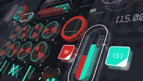 Vue olographe 3 d'animation de panneau d'interface banque de vidéos
