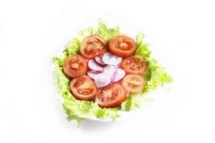 Vue op de salade Photos libres de droits