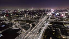 Vue Osaka Japan de nuit de jonction d'autoroute clips vidéos