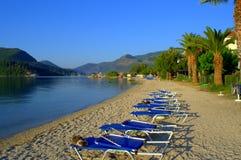 Vue paisible de plage de matin Image stock