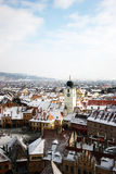 Vue panoramical de Sibiu Photos stock