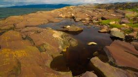 Vue panoramique à Altafjorden, finnmark, Norvège Photos libres de droits