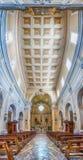 Vue panoramique à l'intérieur d'église de San Francesco, Massa Lubrense, I Image libre de droits