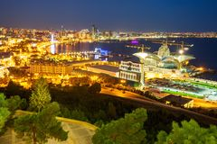 Vue panoramique aérienne de Bakou photo stock