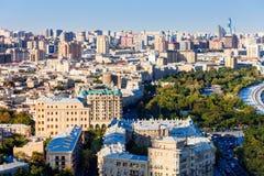 Vue panoramique aérienne de Bakou photo libre de droits