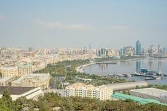 Vue panoramique aérienne de Bakou de Bakou, Azerbaïdjan images libres de droits
