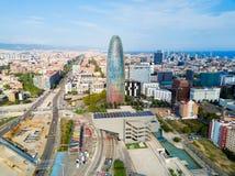 Vue panoramique aérienne de Barcelone, Espagne photographie stock