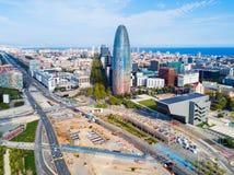 Vue panoramique aérienne de Barcelone, Espagne images libres de droits