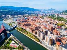 Vue panoramique aérienne de Bilbao, Espagne image stock