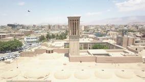 Vue panoramique aérienne de bourdon de Kerman, Iran banque de vidéos