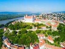 Vue panoramique aérienne de Bratislava image libre de droits