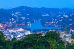 Vue panoramique aérienne de Kandy Photographie stock libre de droits