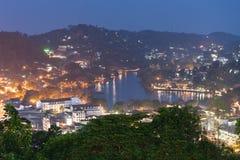 Vue panoramique aérienne de Kandy Photos stock