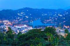 Vue panoramique aérienne de Kandy Image libre de droits