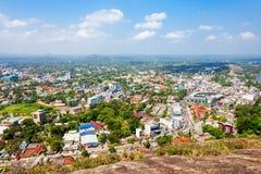 Vue panoramique aérienne de ville de Kurunegala Photos libres de droits