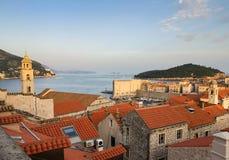 vue panoramique aérienne de ville de Dubrovnik photographie stock libre de droits