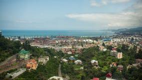 Vue panoramique aérienne du centre ville de Batumi Photographie stock libre de droits