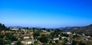 Vue panoramique aérienne vers Mbabane, Souaziland image stock