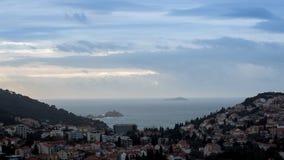 Vue panoramique au-dessus de Dubrovnik banque de vidéos