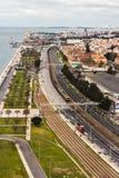 Vue panoramique au-dessus de Lisbonne photo libre de droits