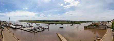 Vue panoramique au-dessus de port de Topsham photos libres de droits