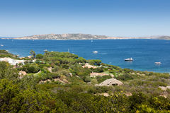 Vue panoramique au-dessus de Porto Pollo Photos libres de droits