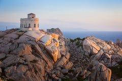 Vue panoramique au-dessus de Porto Pollo Photographie stock libre de droits