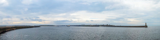 Vue panoramique au-dessus des boucliers du nord Images libres de droits