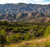 Vue panoramique au-dessus du Montes De Malaga photo libre de droits