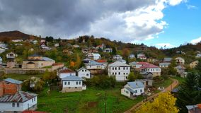 Vue panoramique au vilage Photographie stock