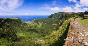 Vue panoramique d'île de Flores Photo stock
