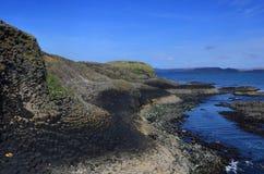 Vue panoramique d'île de Staffa Image libre de droits