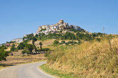 Vue panoramique d'Acerenza Basilicate l'Italie Photographie stock libre de droits