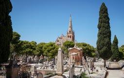 Vue panoramique d'Addolorata Cemetery Photo libre de droits