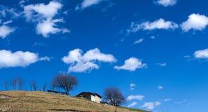 Vue panoramique d'Alpes Images libres de droits