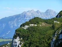 Vue panoramique d'Alpes Image libre de droits
