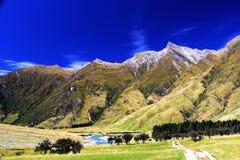 Vue panoramique d'Alpes Image stock