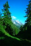 Vue panoramique d'Alpes Photos stock