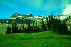 Vue panoramique d'Alpes Images stock