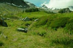 Vue panoramique d'Alpes Photo libre de droits